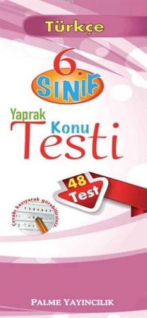Palme Yaprak Test 6.Sınıf Türkçe