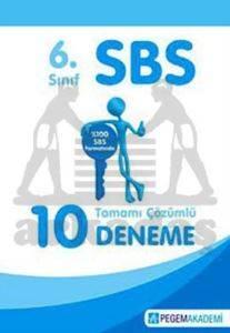 SBS 6. Sınıf Tamamı Çözümlü 10 Deneme