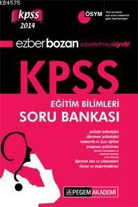 Ezberbozan KPSS Eğitim Bilimleri Soru Bankası