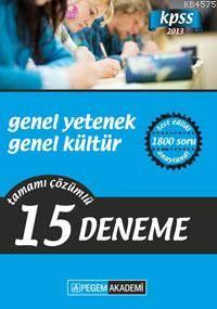 KPSS Genel Yetenek Genel Kültür Tamamı Çözümlü 15 Fasikül Deneme 2013