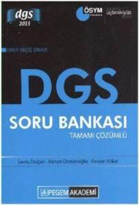 Pegem DGS Tamamı Çözümlü Soru Bankası (2013)