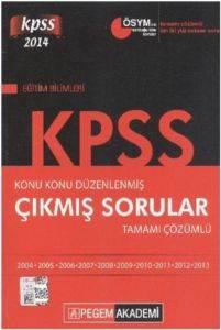 Pegem KPSS Eğitim Bilimleri Konu Konu Düzenlenmiş Çıkmış Sorular Tamamı Çözümlü 2014