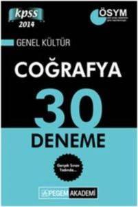 KPSS Genel Kültür Coğrafya 30 Deneme 2014