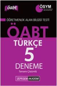 KPSS ÖABT Türkçe Öğretmenliği Tamamı Çözümlü 5 Deneme 2014