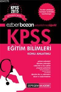 Ezber bozan KPSS Eğitim Bilimleri Konu Anlatımlı