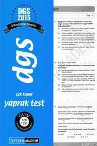 Dgs Çek Kopar Yaprak Test 2016