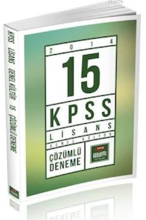 KPSS Genel Kültür Lisans 15 Çözümlü Deneme Kitabı