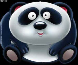 Sevimli Hayvanlar Çıkartmalı Boyama-Panda