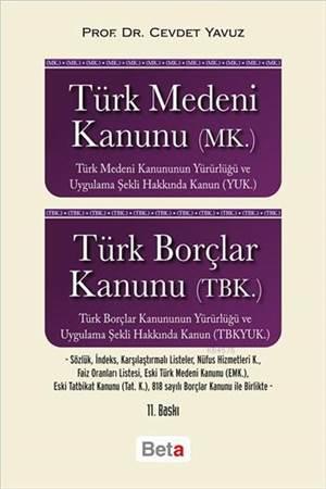 Türk Medeni Kan(Mk)Türk Borç.Kan.(Tbk)11.Bası/Beta