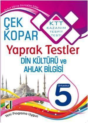 5. Sınıf Din Kültürü Ve Ahlak Bilgisi; Çek Kopar Yaprak Testler
