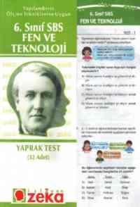 6. Sınıf Fen ve Teknoloji Yaprak Testi