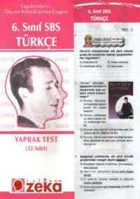 6. Sınıf Türkçe Yaprak Testi