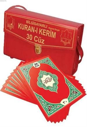 Kur'an-I Kerim 30 Cüz Hatim Seti (Rahle Boy - Çantalı); (Kolay Okunuşlu Bilgisayar Hatlı)