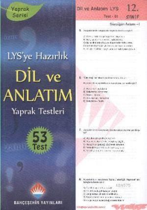 12.Sınıf YGS-LYS Dil Ve Anlatım Yaprak Test; Yaprak Serisi - 53 Test