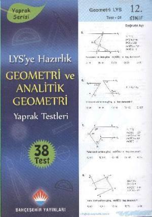 12.Sınıf YGS-LYS Geometri Yaprak Test