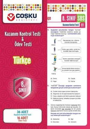 Coşku 8.Sınıf K.K.Testi & Ödev Testi Türkçe