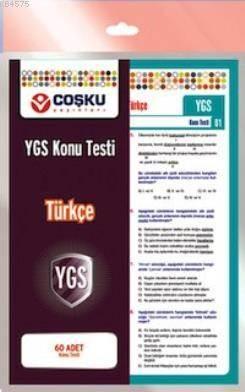 Coşku 12.Sınıf Ygs Türkçe Testi