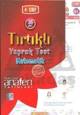 Anafen 4.Sınıf Matematik Tırtıklı Yaprak Test (35 Yaprak)