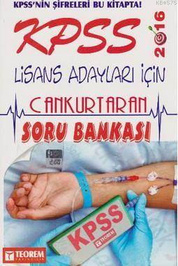 2016 KPSS Lise Önlisans Can Kurtaran Soru Bankası