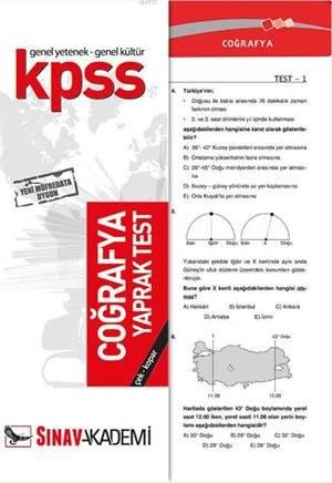KPSS Coğrafya Yaprak Test