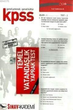 KPSS Temel Vatandaşlık Yaprak Test