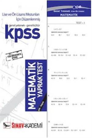 Kpss   Matematik (72 Yaprak)