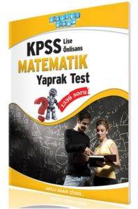 Kpss Lise-Ön Lisans Matematik Yaprak Test