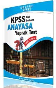 Kpss Lise-Ön Lisans Anayasa Yaprak Test