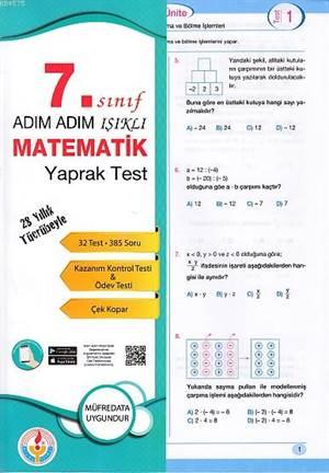 Adım Adım Işıklı 7.Sınıf Matematik Yaprak  Test