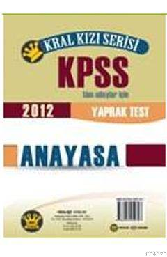 KPSS Anayasa Yaprak Test