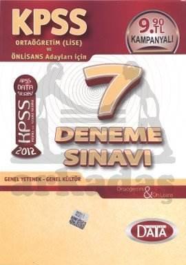KPSS 7 Deneme Sınavı Ortaöğretim Ve Önlisans 2012