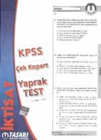 KPSS Alan Bilgisi İktisat Çek Kopart Yaprak Test
