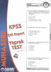 KPSS Alan Bilgisi Muhasebe Çek Kopart Yaprak Test