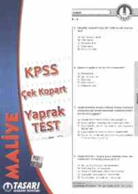 KPSS Alan Bilgisi Maliye Çek Kopart Yaprak Test