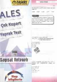 ALES Çek-Kopart Yaprak Test Sayısal Yetenek