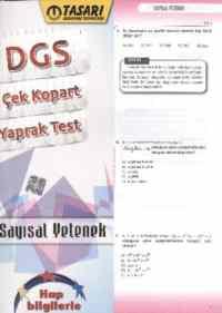 Tasarı DGS Çek-Kopart Yaprak Test Sayısal Yetenek
