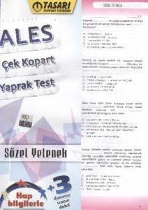 ALES Çek-Kopart Yaprak Test Sözel Yetenek