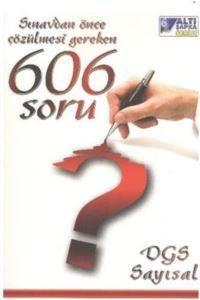 Tasarı DGS 606 Soru Sayısal