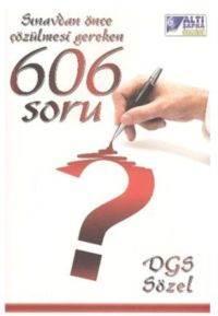 Tasarı DGS 606 Soru Sözel