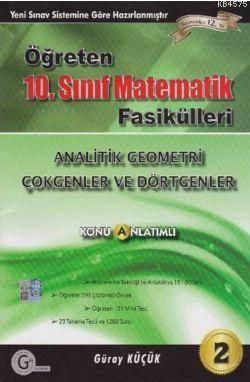 Gür 10. Sınıf Öğreten Matematik Fasikülleri - Analitik Geometri Çokgenler ve Dikdörtgenler