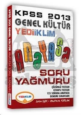 Yediiklim KPSS Genel Kültür Anayasa Soru Yağmuru 2013