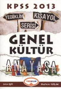 Yediiklim KPSS Genel Kültür Anayasa Kısayol Serisi 2013
