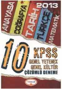 Yediiklim KPSS Genel Yetenek-Genel Kültür 10 Çözümlü Deneme (2013)