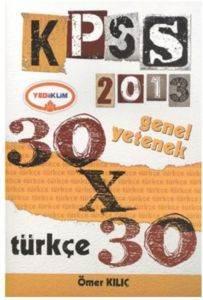 Yediiklim Genel Yetenek Türkçe 30x30 Deneme