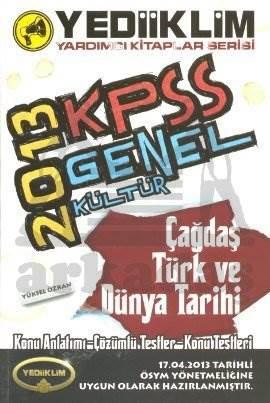 Yediiklim KPSS Genel Kültür Çağdaş Türk ve Dünya Tarihi 2013