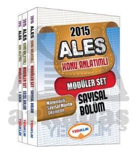 Yediiklim 2015 Ales Konu Anlatımlı Modüler Set 3 Kitap Takım