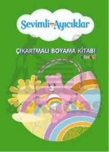 Sevimli Ayıcıklar Çıkartmalı Renkli Boyama Kitabı - 3