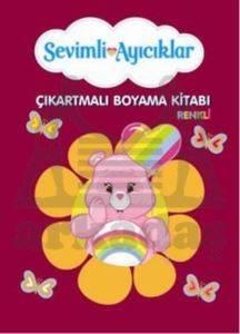 Sevimli Ayıcıklar Çıkartmalı Renkli Boyama Kitabı - 4