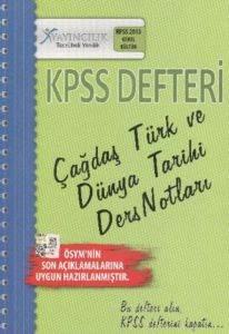 KPSS Defteri - Çağdaş Türk ve Dünya Tarihi Ders Notları