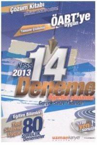Uzman Kariyer KPSS Eğitim Bilimleri Tamamı Çözümlü 14 Deneme (2013)